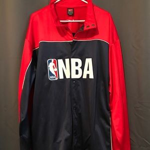 Nike XXL NBA Warm Up Snap Jacket Red And Blue EUC